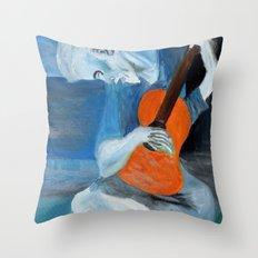 Picasso's Blue Man  Throw Pillow