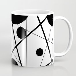 Abstract Lines and Dots Coffee Mug