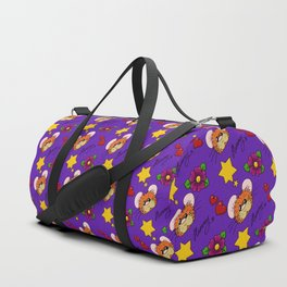 Hammy Pattern in Dark Purple Duffle Bag