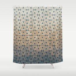 Sunset Hills Geometric Shower Curtain