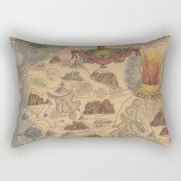 Old Biblical Map of The Sacred Writ (1847) Rectangular Pillow