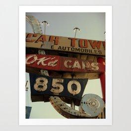 Ok'd Cars Sign  Art Print