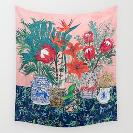 The Domesticated Jungle - Floral Still Life Wall Tapestry