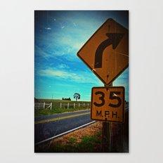 35 mph Canvas Print