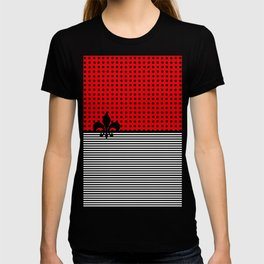 Cherry Red -  Dots and Lines T-shirt