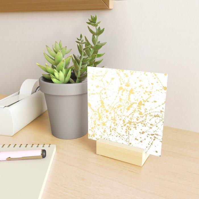 Splat White Gold Mini Art Print