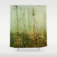 meditation Shower Curtains featuring Meditation by Olivia Joy StClaire