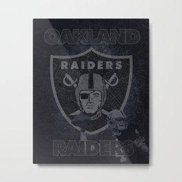 Oakland Football Raiders Print Metal Print