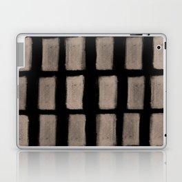 Brush Strokes Vertical Lines Nude on Black Laptop & iPad Skin