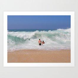 Sunset Beach Shorebreak Art Print