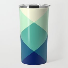 Teal Green Diamond Argyle Travel Mug