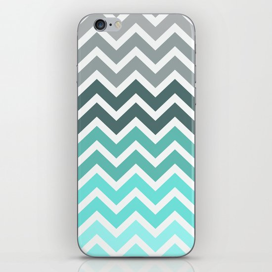 Tiffany Fade Chevron Pattern iPhone & iPod Skin