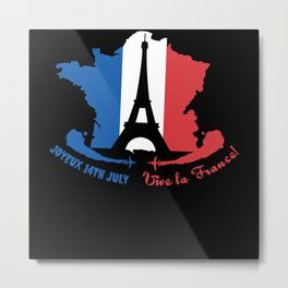 14th July Bastille Metal Print