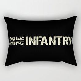 British Flag: Infantry Rectangular Pillow