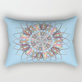 Lizard Snowflake Rectangular Pillow