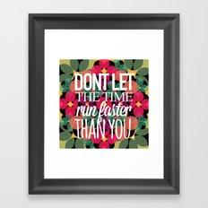 FLOWER TIME Framed Art Print