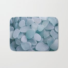 Aqua Sea Glass - Up Close & Personal Bath Mat
