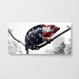 Chameleon, Central Park, NY Metal Print