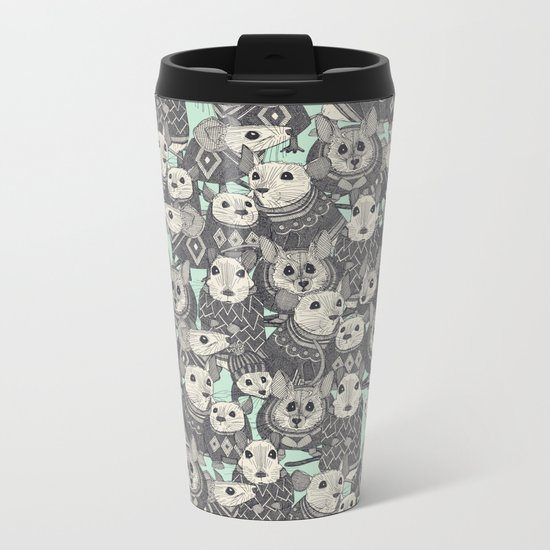 sweater mice mint Metal Travel Mug
