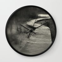 boardwalk empire Wall Clocks featuring Boardwalk by Curt Saunier