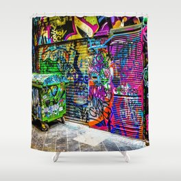 Street art Shower Curtain