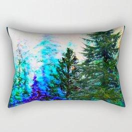 SCENIC BLUE MOUNTAIN GREEN PINE FOREST Rectangular Pillow