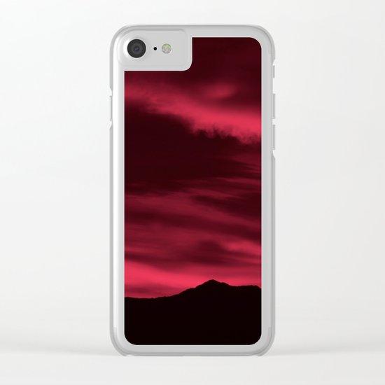 SW Burgundy Sunrise Clear iPhone Case