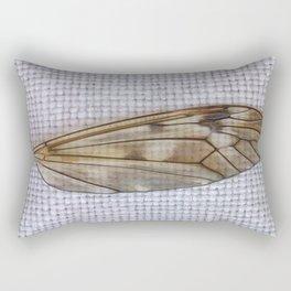 C'est folie de vouloir voler sans aile (It's crazy to want to fly without a wing) Rectangular Pillow