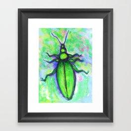 The green bug Framed Art Print