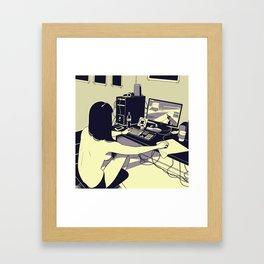 Gamer girl Framed Art Print