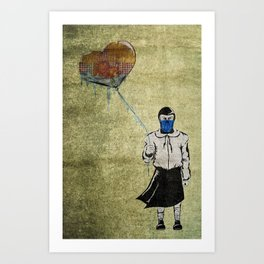Sub-Zero Girl Art Print