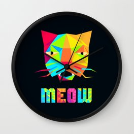 That Cat Face Says Meow Wall Clock