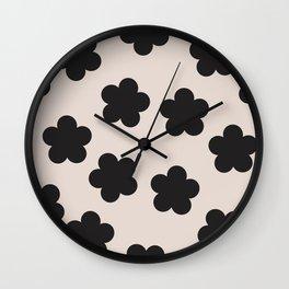 Floral Block Print Wall Clock