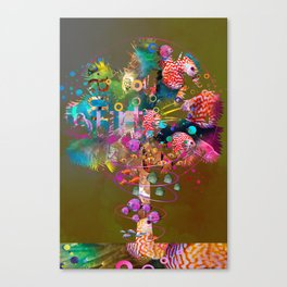 Palm tree in full color Canvas Print