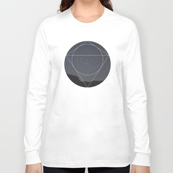 Spinning Universe - Geometric Photography Long Sleeve T-shirt