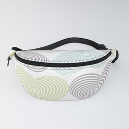 pastel hearts on white Fanny Pack