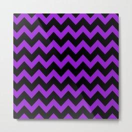 Purple Chevron Metal Print
