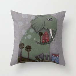 It's an Elephant! Throw Pillow