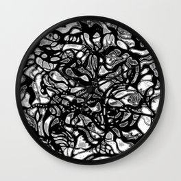 Structured Nothingness Wall Clock
