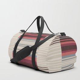 Bauhaus Stripe in Red Multi Duffle Bag