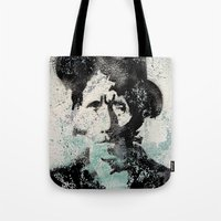 tom selleck Tote Bags featuring Tom by Matteo Lotti