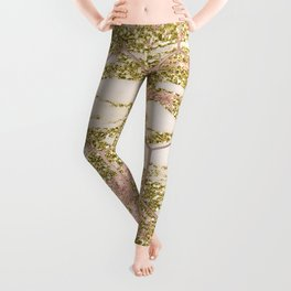 Dramatic rose gold and golden honeycomb Leggings
