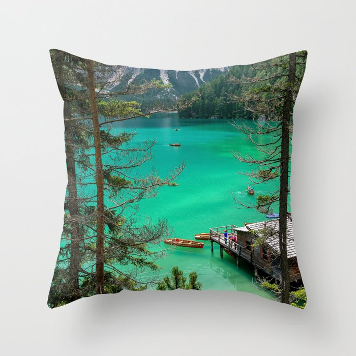 Pragser Wildsee Throw Pillow