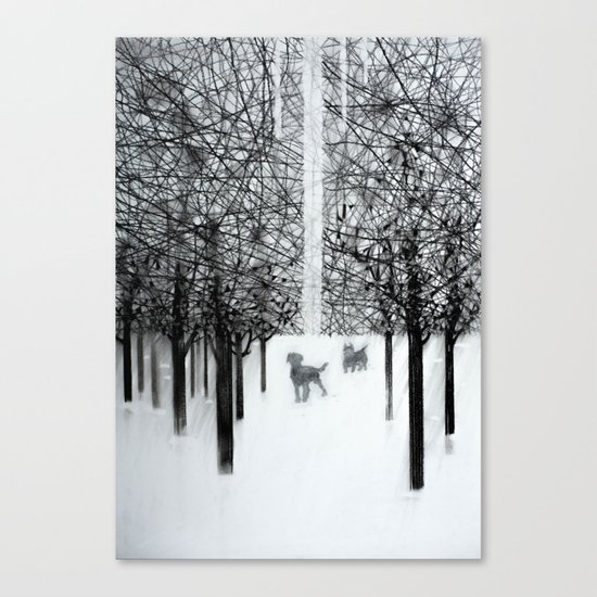 Walking dogs Canvas Print