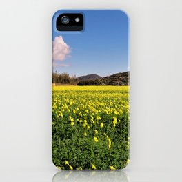 yellow flower meadow iPhone Case