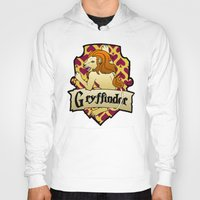 gryffindor Hoodies featuring Gryffindor Crest by AriesNamarie
