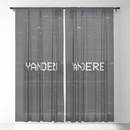 YANDERE Sheer Curtain