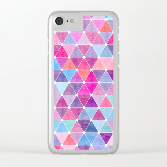 Lovely geometric Pattern Clear iPhone Case