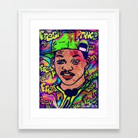 fresh prince Framed Art Prints featuring FRESH PRINCE by AZZURRA DESIGNS