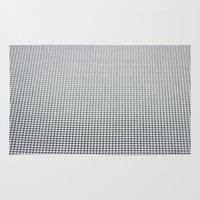 grid Area & Throw Rugs featuring Grid by Kaamil Ajmeri